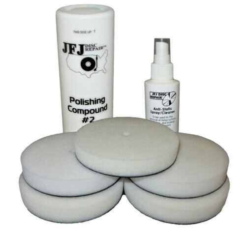 JFJ EASY PRO SUPPLY PACK - 5 PADS / WHITE SOLUTION / ANTI-STATIC SPRAY