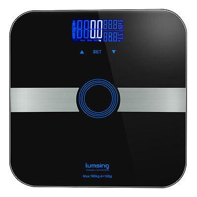 Digital Lcd Smart Bathroom Scale Body Weight Fat Bone Calorie Bmi Muscle 400Lbs