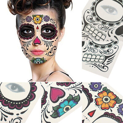 Halloween Face Mask Decal Temporary Tatto Sticker Party Festival Makeup Props