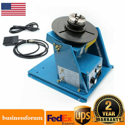 Rotary Welding Positioner Turntable Table 2.5 3 Jaw Lathe Chuck 2-20rpm 10kg Us