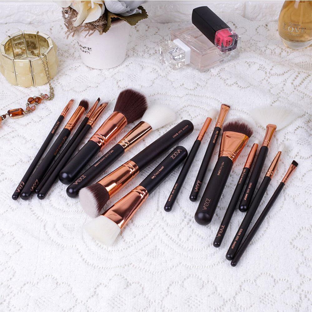 Makeup Bürsten Rosegold Kosmetik Pinsels Unicorn Augen Kit Gesicht Set + Tasche