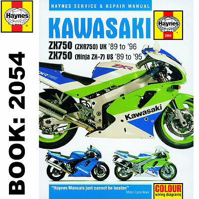 Kawasaki ZX750 Ninja ZX-7 ZXR750 Fours 1989-96 Haynes Workshop Manual