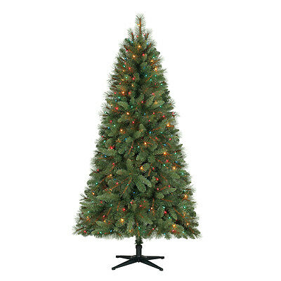 Home Heritage 6.5 Ft Artificial Crestwood Pine Christmas Tree with Lights