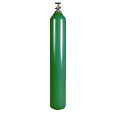 New 125 Cu Ft Steel Oxygen Cylinder Cga540 - Oxyacetylene Welding - Dot Approved