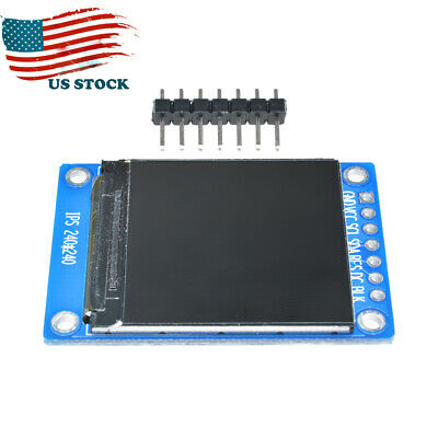1.3 Rgb Ips Lcd Display Module 3.3v St7789 Spi 240x240 Full Color For Arduino