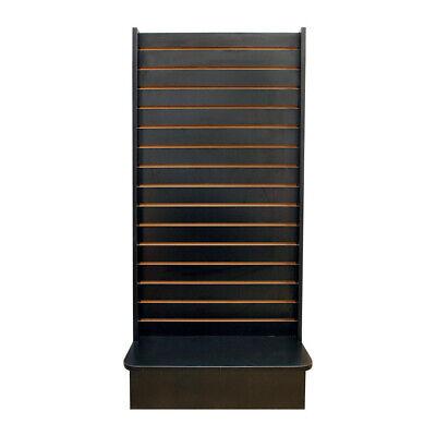 Black 25x25x54 Display Tower 2 Sided Slatwall Knockdown Displays Floor Stand