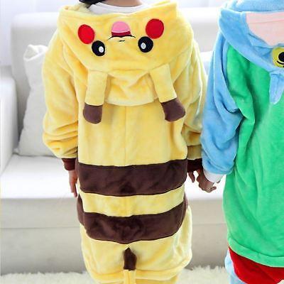 UK Kids Adult Pikachu Pokemon Unicorn Cosplay Costume Kigurumi Pyjamas Nightwear (Pokemon Adult)