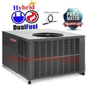 goodman 4 ton 14 seer dual fuel heat pump 115k gas package. Black Bedroom Furniture Sets. Home Design Ideas