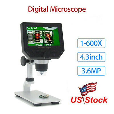 G600 Digital 1-600x 4.3 Lcd Microscope Magnifier Endoscope Professional Camera