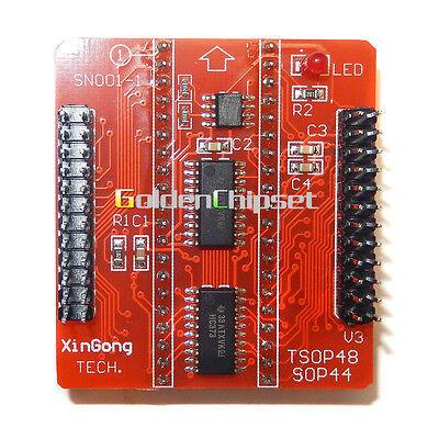 V3 Adapter Tsop48 Sop44 For Tl866cs Tl866a Tl866ii Usb Bios Programmer