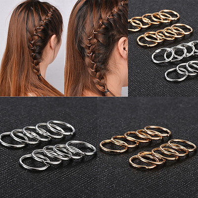 20pcs women boho hip hop braid gold