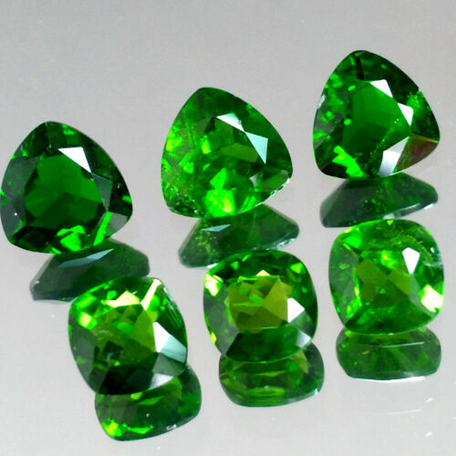 3.50cts 5-6mm Cushion Trillion Natural Chrome Green Diopside Loose Gemstones Lot