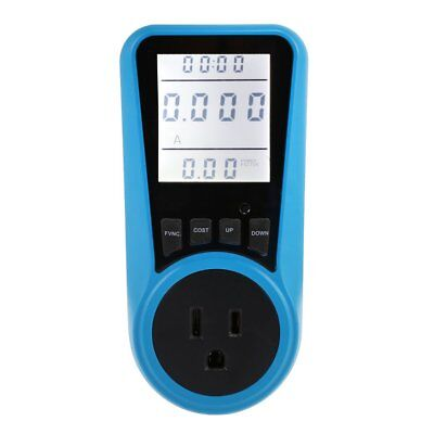 Ac Power Meter 120v 16a Us Plug Socket Digital Wattmeter Watt Energy Meter Timer
