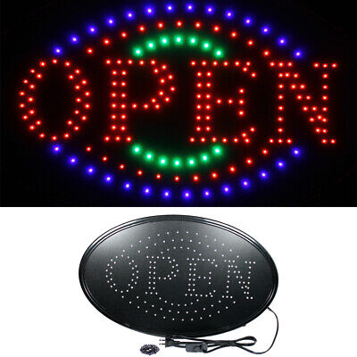 Large 23 X 14 Bright Led Neon Open Business Sign With Motion Animation - Oval