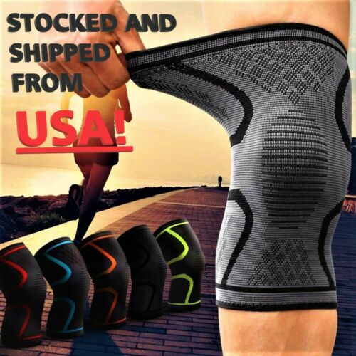 1x 2x Compression Knee Sleeve Brace/Running/Arthritis/Joint Support/Choose S-5XL