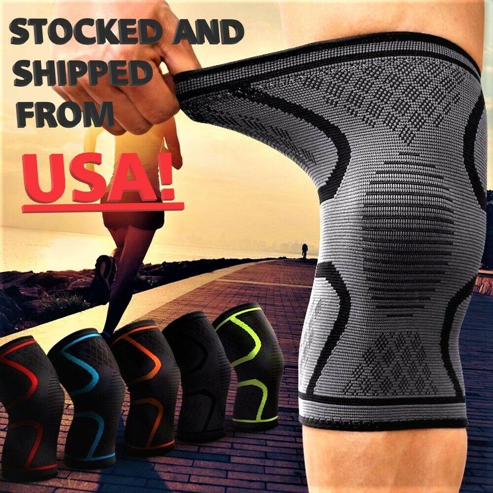 2x Compression Knee Sleeve Brace/Running/Arthritis/Joint Sup