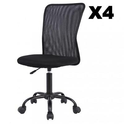1234 Pcs Mid-back Mesh Office Chair Computer Task Swivel Seats Blackpink