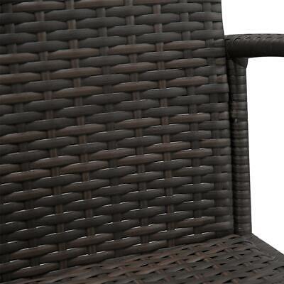 4 PCS Rattan Patio Furniture Set Garden Lawn Sofa Set /w Cushion Seat Mix Wicker 9