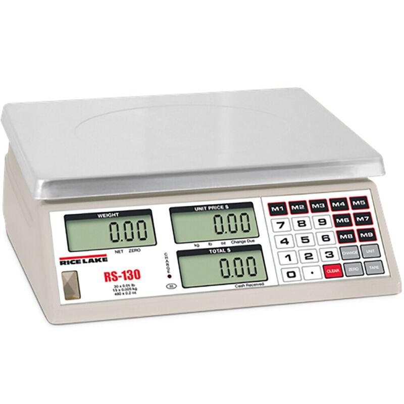 Rice Lake Open Box RS-130, Price Computing Scale, 30 lb x 0.01 lb, NTEP
