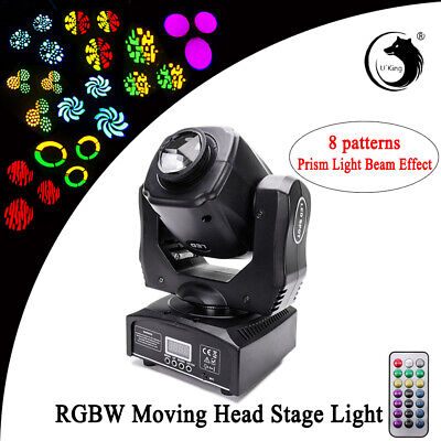 U`King Prism Effect Moving Head Stage Light Gobo Pinspot Remote DMX Disco Party (Gobo Effect Light)