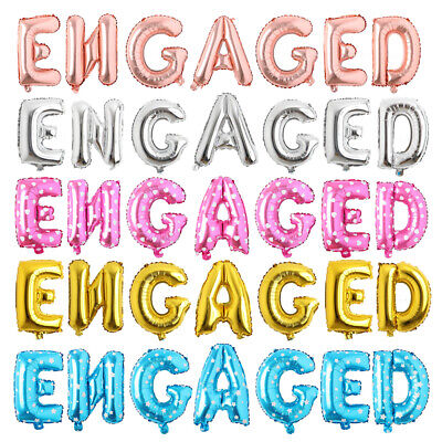 Engaged Balloons Banner Engagement Party Decorations Bunting Rose Gold Silver](Engagement Party Balloons)