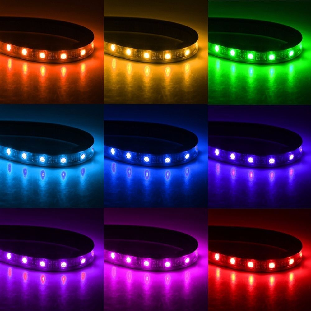 4 led strip car suv interior rgb atmosphere decorative light neon lamp bulbs 12v. Black Bedroom Furniture Sets. Home Design Ideas