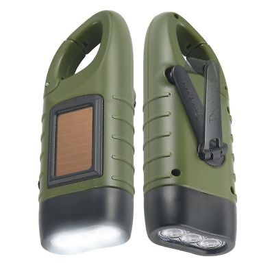 - Simpeak 2 Pack Hand Crank Solar Powered and Rechargeable LED Flashlight green