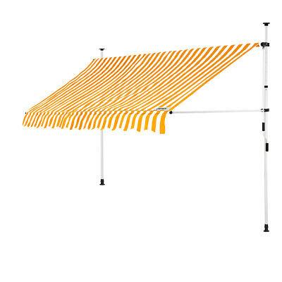 B-Ware Klemmmarkise Gelb/Weiß 300cm