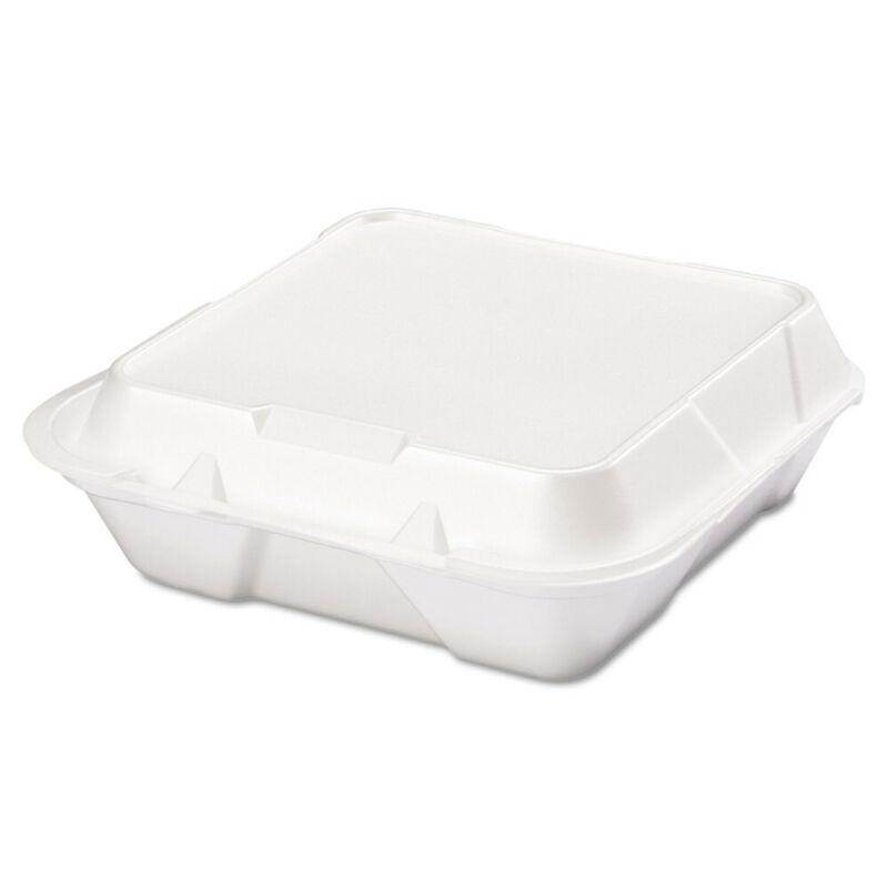 Genpak Snap It Foam Container, 1-Comp, 9 1/4 X 9 1/4 X 3, White, 100/bag, 2 Bags