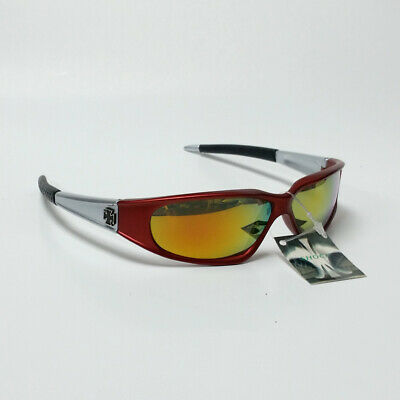 Men's Red Gray & Black Sunglasses with Multi Colored Lens (Multi Colored Lens Sunglasses)