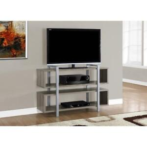 "NEW Monarch Specialties I 7184 Dark Taupe Bookcase TV Stand, 48"" X 32"""