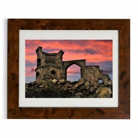 Sunset over Mow Cop Castle, Framed Photo, Quality Fine Art Print