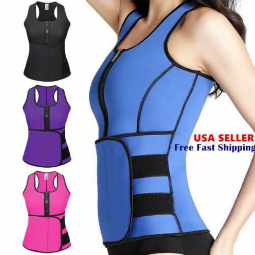 Women Waist Trainer Vest Gym Adjustable Sauna Slimming Sweat Belt Body Shaper Clothing, Shoes & Accessories