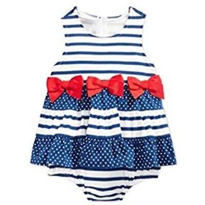 first Impression Mädchen Sommer Outfit Spieler Body Kleid Matrosen Baby Girl 62 ()