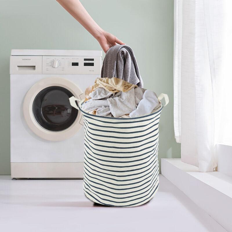 Large Storage Laundry Hamper Basket Bucket Bin For Kids Toys