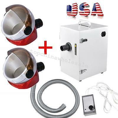 Dental Lab Digital Single-row Dust Collector Vacuum Cleaner 2pc Suction Base Fda