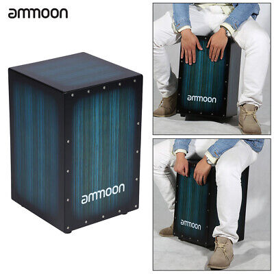 ammoon Wooden Box Cajon Hand Drum Rhythm Band Persussion Instruments for Adult