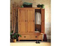 Rustic Oak Triple Wardrobe (Pine Solutions)