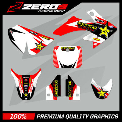 HONDA CRF50 MOTOCROSS GRAPHICS KIT DECAL GRAPHICS KIT ROCKSTAR RD WH (NO CUSTOM)