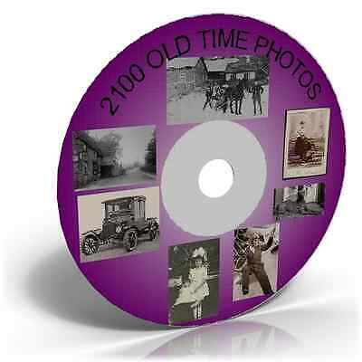 2100 OLD TIME PHOTOS & IMAGES ON CD