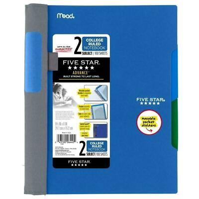 Five Star Advance Spiral Notebook 2 Subject College Ruled - Blue