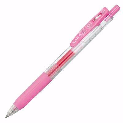 Set Of 5 Zebra Sarasa Clip- Light Pink 0.5 Gel Ink Pen Jj15-lp Japan