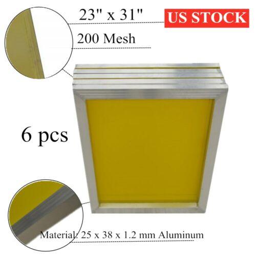 "US Stock 6pcs 23"" x 31"" Aluminum Silk Screen Printing Frame with 200 Mesh"