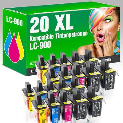 20 Druckerpatronen für Brother LC900 DCP 115 C