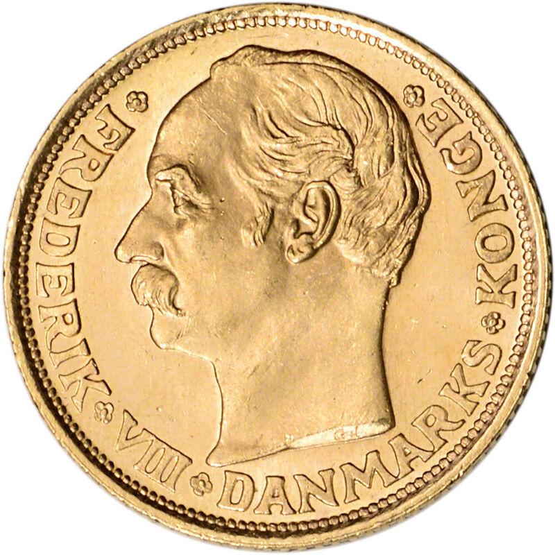 Denmark Gold 10 Kroner .1296 oz - Frederik VIII - BU - Random Date
