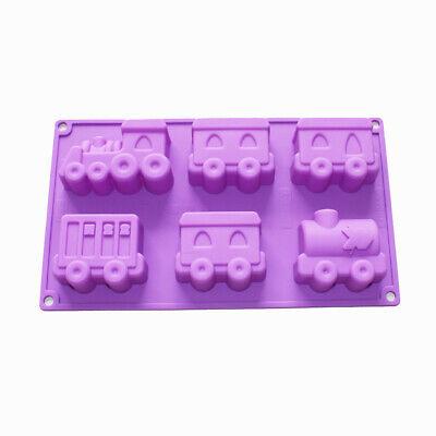 Choo Choo Train Silicone Soap Mold Cake Chocolate Crayon Fimo Kids Shower Suppli (Shower Crayons)