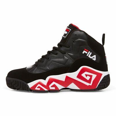 Fila Men's MB High Top Basketball Sneaker - Black/Red/White