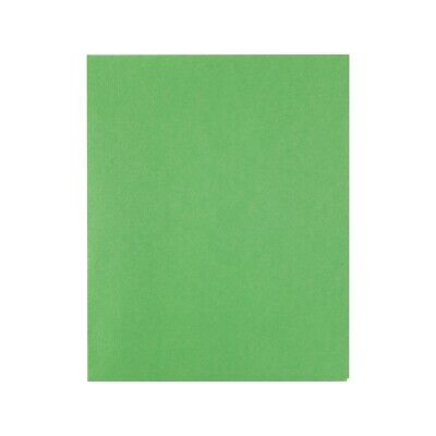 Staples School Grade 2 Pocket Folder With Fasteners Green 25box 578510