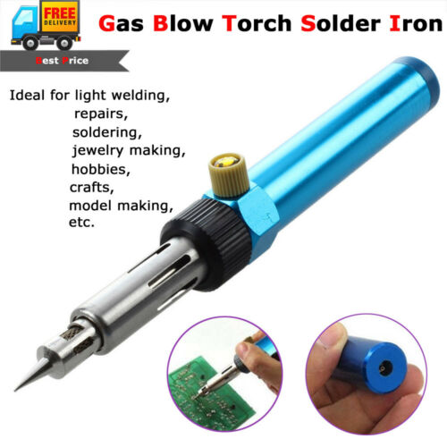 Gas Blow Torch Soldering Iron Gun Cordless Butane Welding Pe