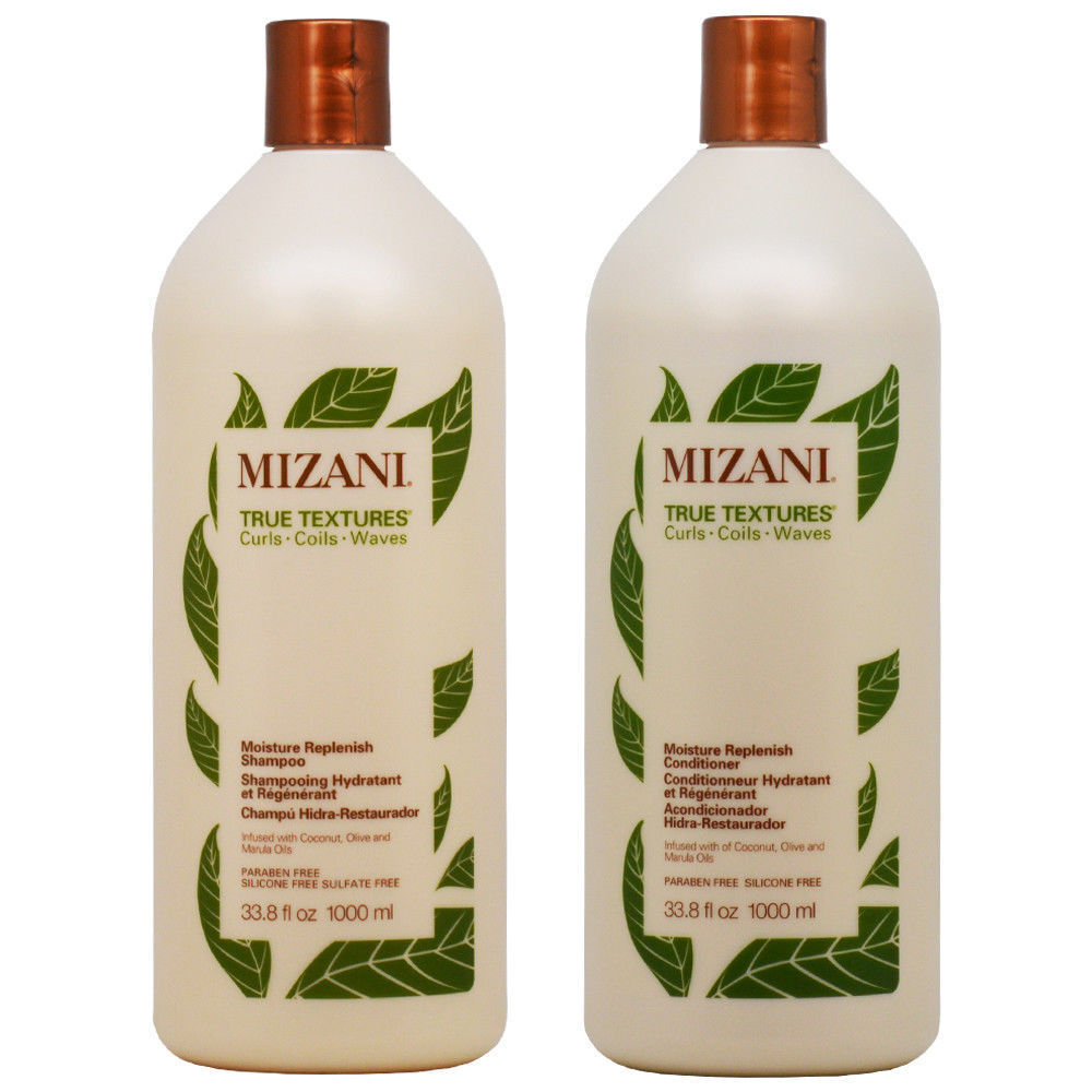 Mizani True Textures Moisture Replenish Shampoo and Conditioner 33.8oz SET Hair Care & Styling